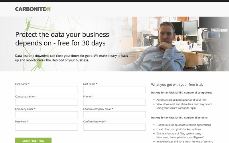 Carbonite protects business data automatically | Try it free today