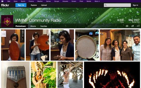 Screenshot of Flickr Page flickr.com - Flickr: WMNF Community Radio's Photostream - captured Oct. 26, 2014