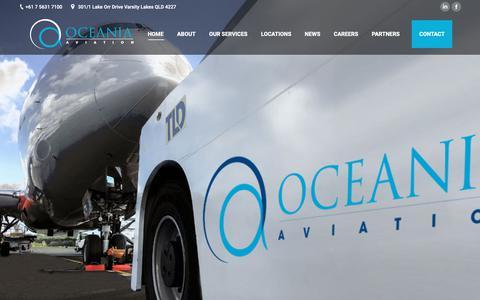 Screenshot of Home Page oceaniaaviation.com - Oceania Aviation – Aviation Ground Handling, Airport Customer Service, Ground Support Equipment - captured Dec. 11, 2018