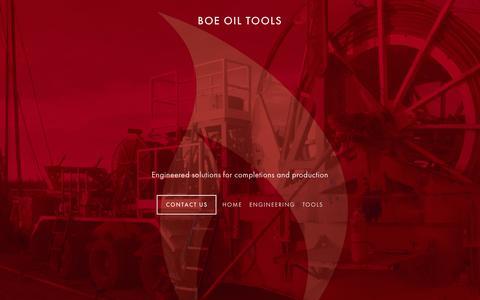 Screenshot of Home Page boeoiltools.com - BOE Oil Tools - captured Dec. 28, 2015