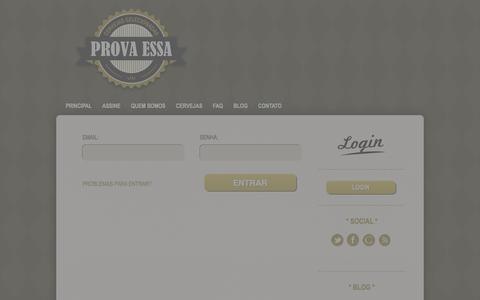 Screenshot of Login Page provaessa.com.br - Prova Essa - captured Sept. 30, 2014