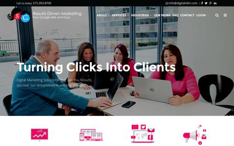 Screenshot of Home Page digitalrdm.com - Pay Per Click (PPC) Advertising | Internet Marketing - Philadelphia, PA - captured March 4, 2016