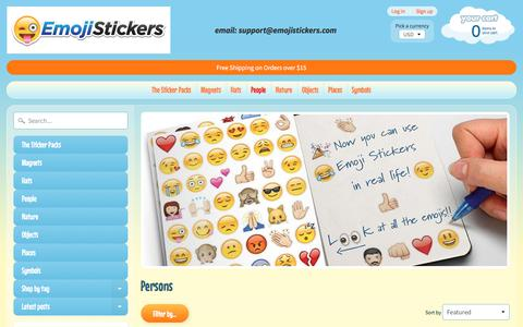 Screenshot of Team Page emojistickers.com - Persons | EmojiStickers.com - captured July 1, 2018