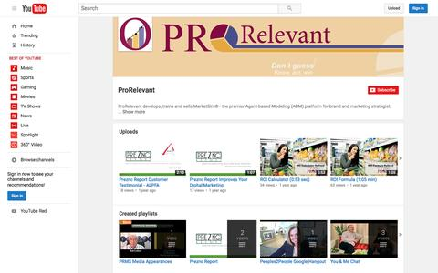 ProRelevant  - YouTube