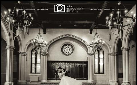 Screenshot of Home Page laraphoto.com - Lara Photography Studio | NY & NC Wedding & Portrait Photography - captured Jan. 25, 2016