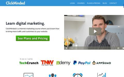 Screenshot of Home Page clickminded.com - The ClickMinded SEO Training & Digital Marketing Course - captured Sept. 22, 2014