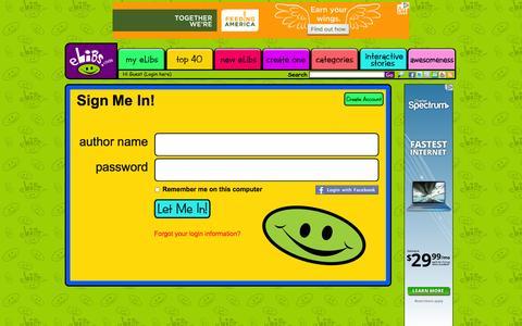 Screenshot of Login Page elibs.com - User signin - Elibs - captured Sept. 12, 2014
