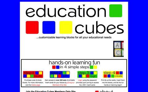Screenshot of Signup Page educationcubes.com - Education Cubes: Join the Education Cubes Members Only Site - captured June 7, 2016