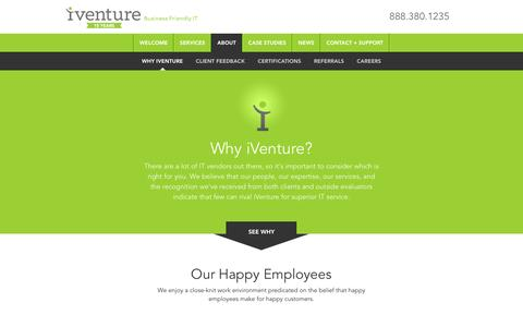 Screenshot of About Page iventuresolutions.com - Orlando IT Services | Jacksonville IT Consultants - captured May 5, 2016