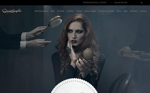 Screenshot of Home Page greatlengthshair.co.uk - Great Lengths Hair Extensions UK - captured Sept. 17, 2015