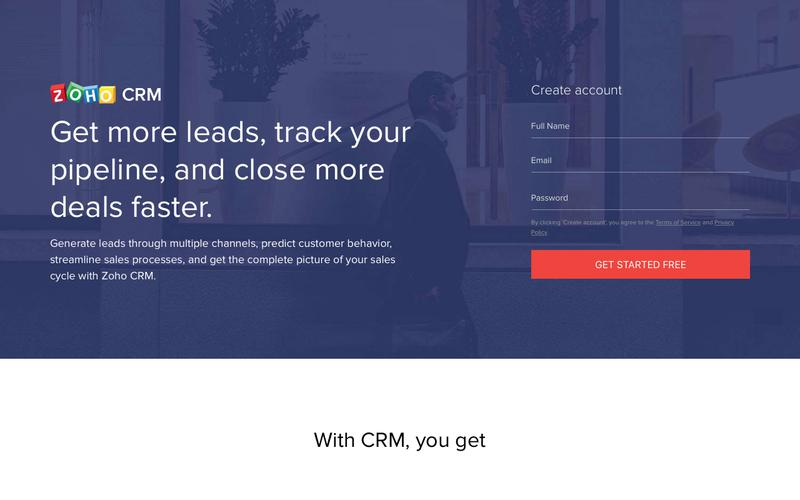 Zoho CRM - Customer relationship software for business.