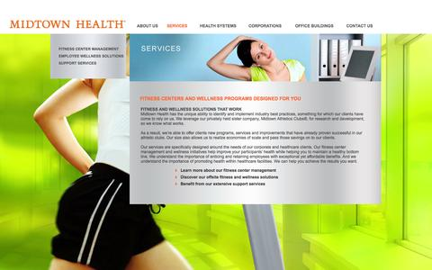 Screenshot of Services Page midtownhealth.com - Business Wellness Services | Midtown Health - captured Oct. 3, 2014