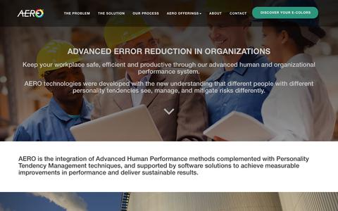 Screenshot of Home Page error-reduction.com - ADVANCED ERROR REDUCTION IN ORGANIZATIONS - captured July 11, 2018