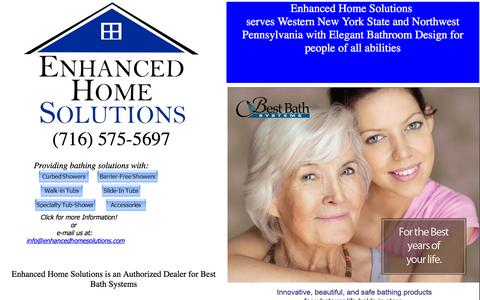 Screenshot of Home Page enhancedhomesolutions.com - Enhanced Home Solutions - captured Sept. 30, 2014