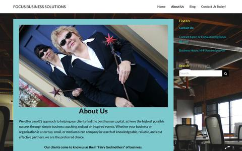 Screenshot of About Page focus-bs.com - About Us – FOCUS BUSINESS SOLUTIONS - captured Oct. 10, 2018