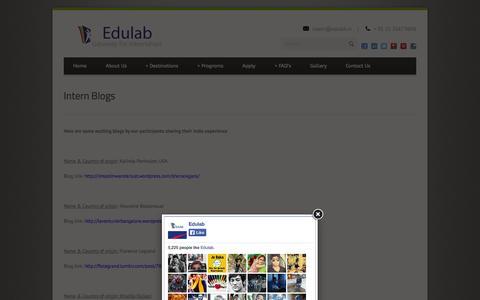 Screenshot of Press Page edulab.in - Edulab  » Intern Blogs - captured Sept. 29, 2014