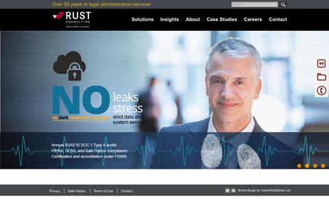 Screenshot of Home Page rustconsulting.com - Rust Home - captured Oct. 21, 2015
