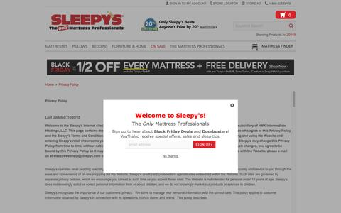 Privacy Policy - Sleepy's