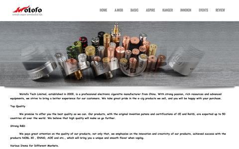 Screenshot of About Page wotofotech.com - Electronic cigarette manufacturer|Electronic cigarette supplier - captured Oct. 1, 2014