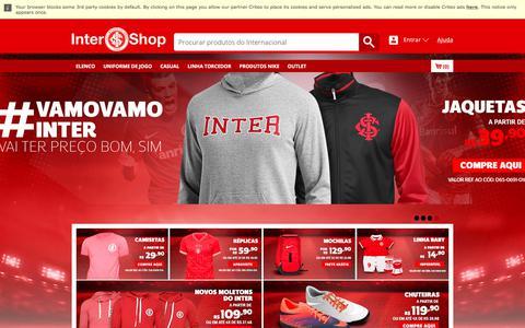 Screenshot of Home Page lojadointer.com.br - A Loja Oficial do S.C. Internacional na internet. - captured July 2, 2017