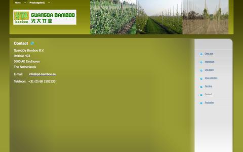 Screenshot of Contact Page gd-bamboo.eu - gd-bamboo.eu - Contact - captured Oct. 27, 2014
