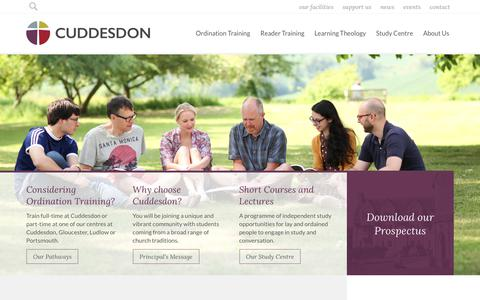 Screenshot of Home Page rcc.ac.uk - Learning and Living at Cuddesdon | Ripon College Cuddesdon - captured Oct. 19, 2018