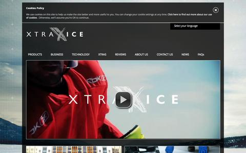 Screenshot of Home Page xtraice.com - Leading Synthetic Ice Rink Manufacturer. Buy or rent now. - captured Aug. 11, 2015