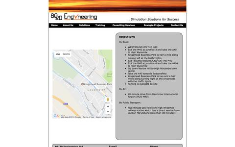 Screenshot of Maps & Directions Page 8020engineering.com - Directions - captured Dec. 15, 2016