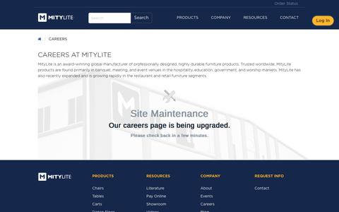 Screenshot of Jobs Page mitylite.com - Careers - MityLite - captured Sept. 23, 2018