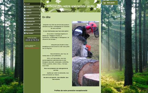 Screenshot of Home Page arbojardin.be - Accueil  - www.arbojardin.be - captured Sept. 30, 2014