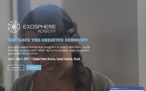 Screenshot of Home Page exosphe.re - The Exosphere Academy - captured Nov. 12, 2016