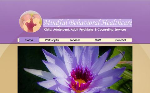 Screenshot of Home Page mindfulbehavioralcare.com - Mindful Behavioral Healthcare - captured Oct. 6, 2014