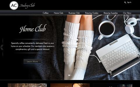 Screenshot of Home Page andreyclub.com - Home - Andrey Club - captured July 25, 2016