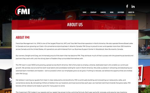 Screenshot of About Page fmigroup.ca - Taco Bell, KFC and Pizza Hut | Franchise Management Inc. - captured Oct. 13, 2017