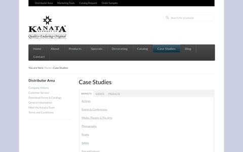 Screenshot of Case Studies Page kanatablanket.com - Case Studies  - Kanata Blanket Company - captured Nov. 3, 2014