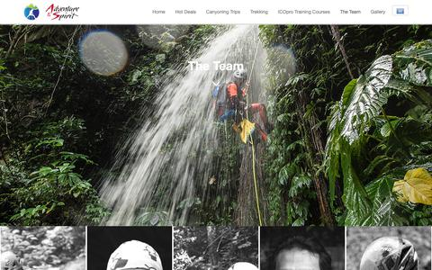 Screenshot of Team Page adventureandspirit.com - Canyoning Team | Adventure & Spirit - Bali Canyoning Team - captured Oct. 3, 2018