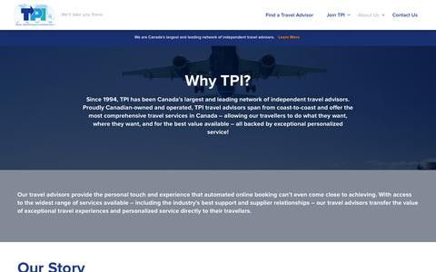 Screenshot of About Page tpi.ca - About Us - Travel Professionals International | Travel Professionals International - captured Sept. 24, 2014