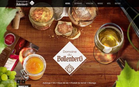 Screenshot of Home Page bollenberg.com - Domaine du Bollenberg et le Clos Sainte Apolline/ | - captured Oct. 16, 2015
