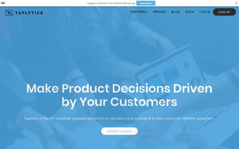 Taplytics | A Customer Engagement Platform Built for Digital Growth