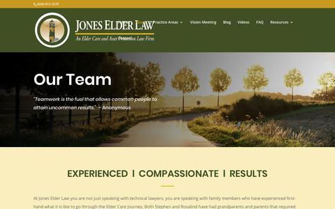 Screenshot of About Page joneselderlaw.com - About - Jones Elder Law - captured Oct. 14, 2018