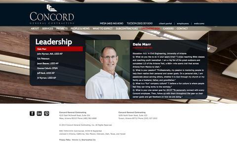 Screenshot of Team Page concordinc.com - Concord General Contracting, Inc. - captured Oct. 2, 2014