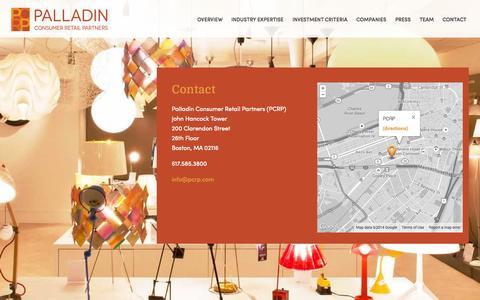 Screenshot of Contact Page pcrp.com - Contact | - captured Oct. 1, 2014