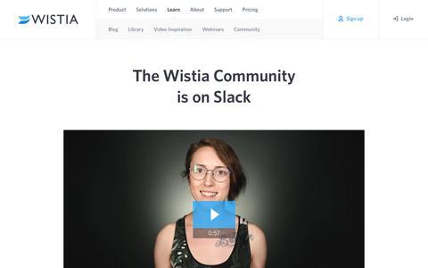 The Wistia Community