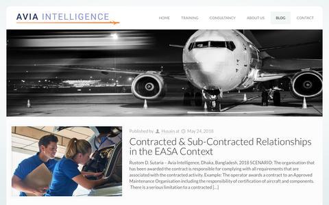 Screenshot of Blog aviaintelligence.com - Blog – Avia Intelligence - captured Aug. 8, 2019
