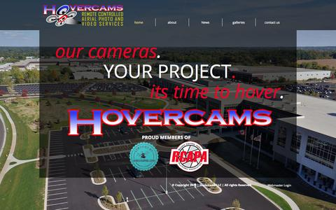 Screenshot of Home Page hovercams.com - Hovercams | Aerial Photography | Michigan - captured Oct. 3, 2014