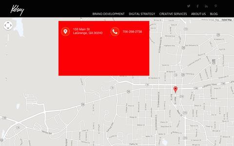 Screenshot of Contact Page kelseyads.com - Contact Us - captured Oct. 6, 2014