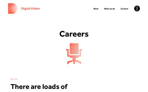 Screenshot of Jobs Page digitalvisitor.com - Careers | Digital Visitor - captured Aug. 7, 2018