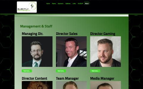 Screenshot of Team Page sd-gaming.com - Management & Staff - SD Gaming - captured Oct. 27, 2014