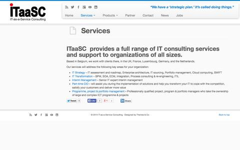 Screenshot of Services Page itaasc.com - ITaaSC provides a full range of IT consulting services - captured Nov. 4, 2014