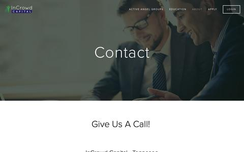 Screenshot of Contact Page incrowdcapital.com - Contact — InCrowd Capital - captured Feb. 10, 2016